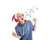 Teenager singt Weihnachtslieder