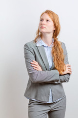 Businesswoman Planning or Thinking
