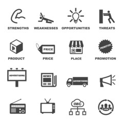marketing and advertising icons