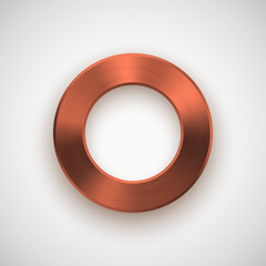 Bronze Abstract Donut Button Template