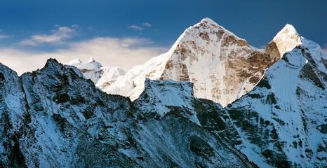 Morning view of Kangtega peak