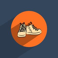 Shoes flat doodle icon