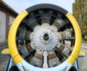 The old air motor without propeller
