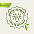 Eco Green icon. Natural quality stamp. Fresh product.