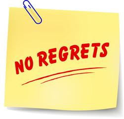 Vector no regrets message