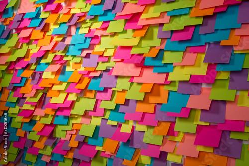 Leinwandbild Motiv Many of colorful stickers and shadows