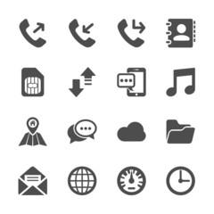 smart phone application icon set, vector eps10