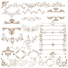 Floral calligraphic design