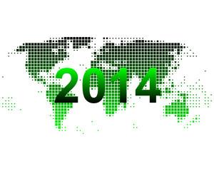 Weltkarte 2014