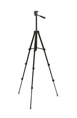 Black tripod isolated over white