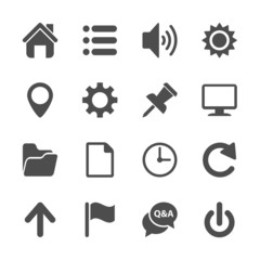 computer and website menu icon set, vector eps10