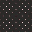 Tile vector pattern pink polka dots on black background