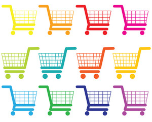 The pattern of shoppihg cart