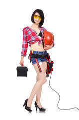 sexy woman builder