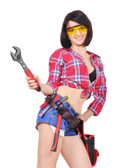 girl with wrench