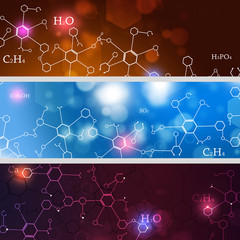 Abstract Technology and Science Banners