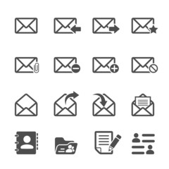 email icon set, vector eps10