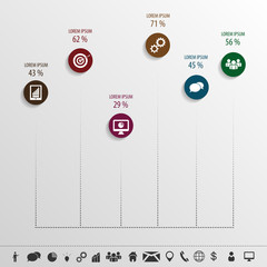 data infographic with elements and icons. Vector