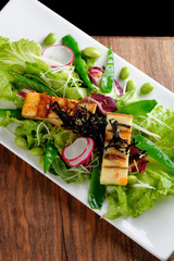 Tofu salad with varieties of vegetables