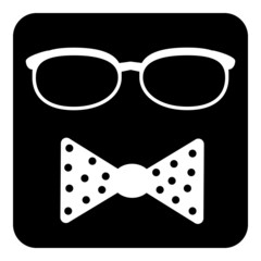Hipster symbol icon
