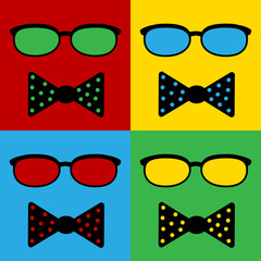 Pop art hipster icon