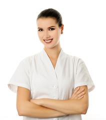 cheerful cosmetologist