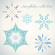 Snowflakes vector collection winter snowflake decoration
