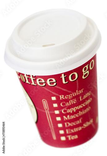Leinwanddruck Bild coffee to go