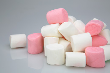 pile of marshmallow white and pink colors