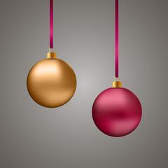 Красный и золтой новогодние шары/Christmas balls