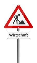 Warnschild Krise