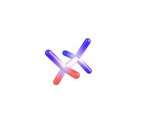 Tetrafluoroethane molecule isolated on white