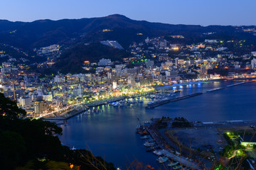 Landscape of the city of Atami, in Shizuoka, Japan