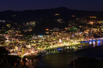 Landscape of the city of Atami, in Shizuoka, Japan