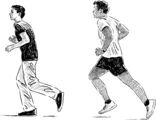 jogging boys