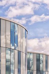 Modern building reflection
