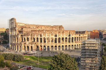 Rome Colosseum elevated view