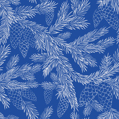 Seamless pattern fur-tree