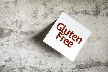 Gluten Free on Paper Note on texture background