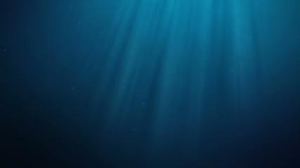 seamless loop underwater scene with rays of light
