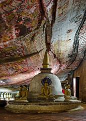 Cave II Maharaja Viharaya at Dambulla cave temple.