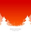 Winterwald Weihnachten rot