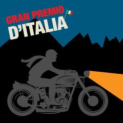 Vintage Motorcycle sport label, vector