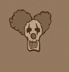 Skull clown vintage