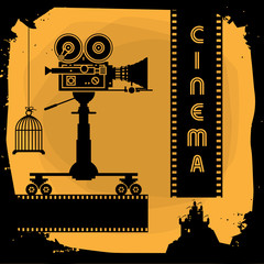Abstract cinema background, vector