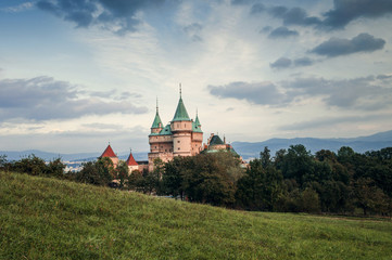Castle towers Bojnice Slovakia