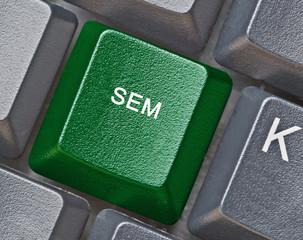 Keyboard with key for SEM