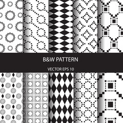 B&W basic pattern set 1