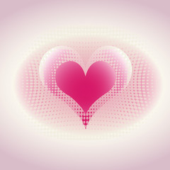Modern heart illustration for simple romantic card