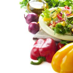 Healthy vegetable fresh organic set